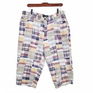 Lauren Ralph Lauren VTG Patchwork Madras Shorts 14